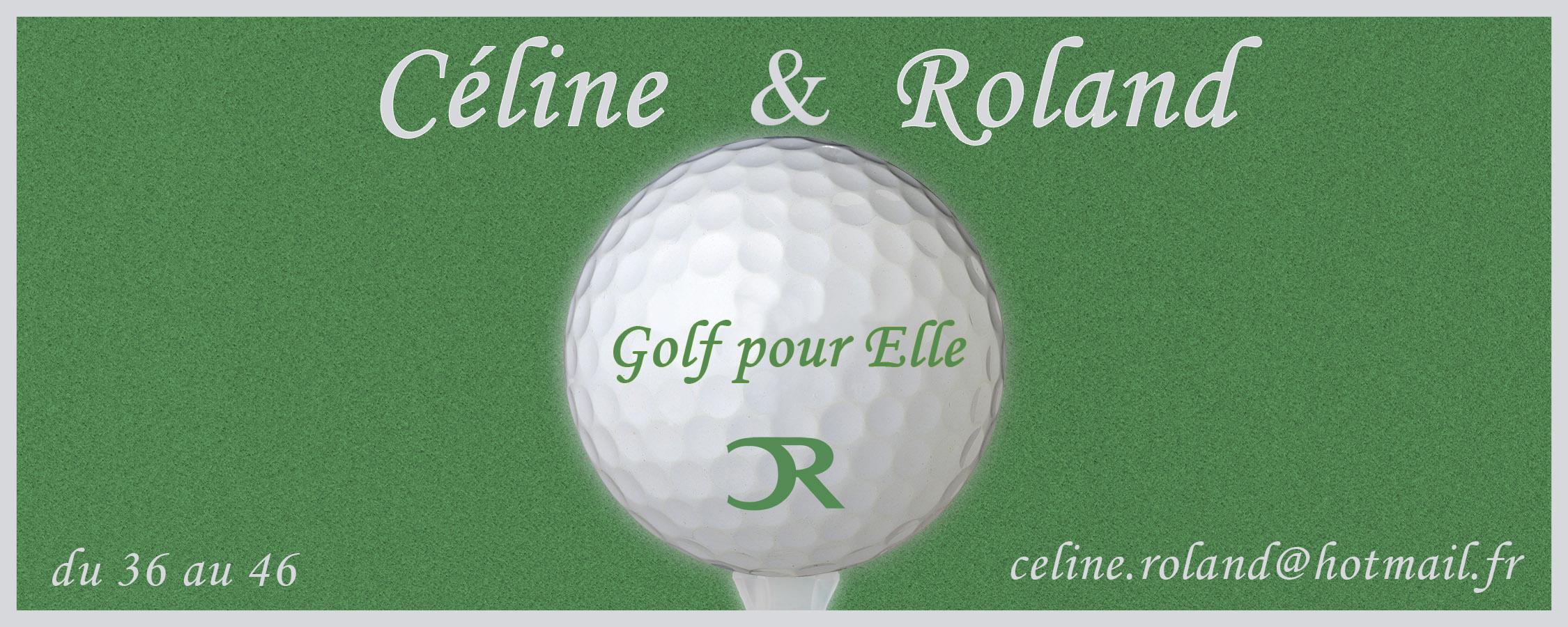 banniere site vêtements féminin de golf Céline & Roland
