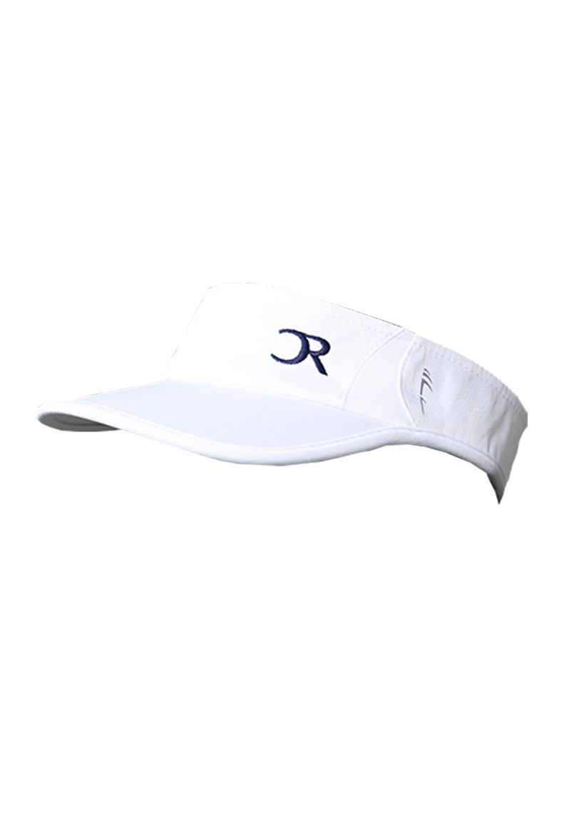 Visière blanche logo bleu marine