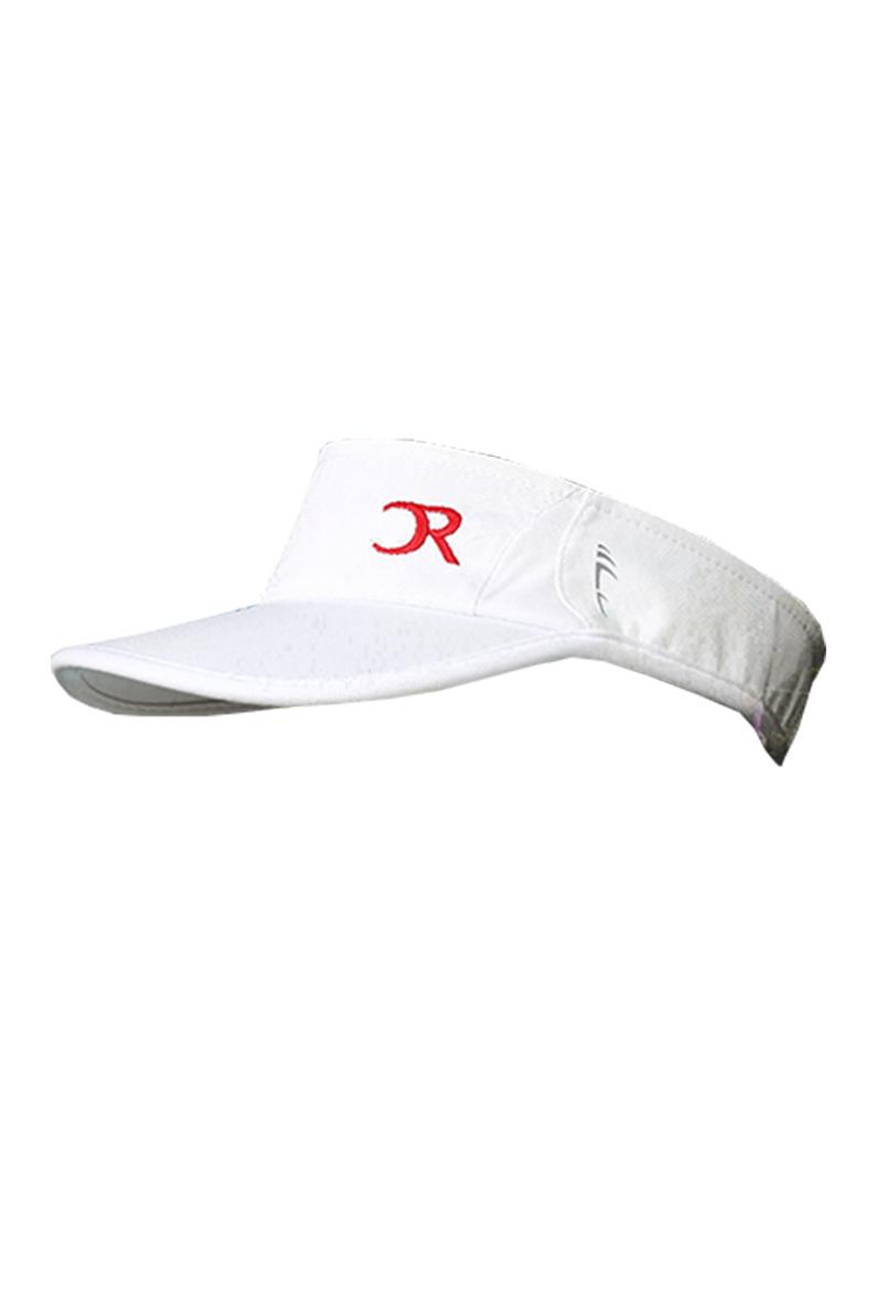 Visière blanche logo rouge