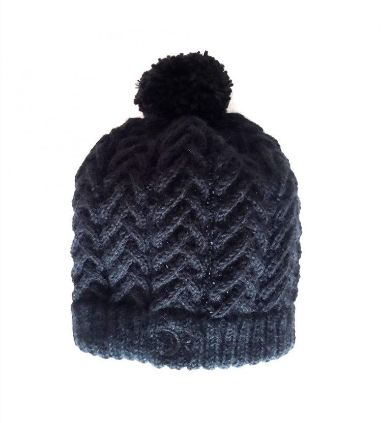 bonnet torsade noir