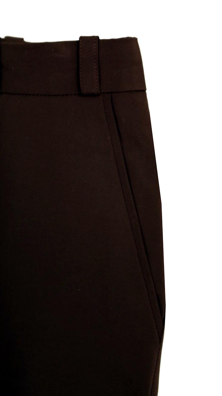Pantalon marrron detail poche devant