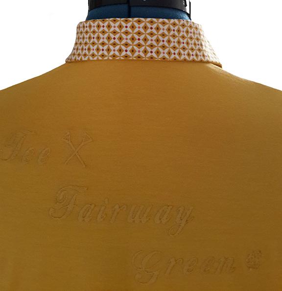 polo jaune de mars detail dos