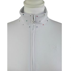 polo-blanc-strass-multicolores-vue-plie