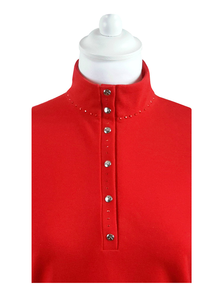 polo-rouge-strass-manches-longues-vue-plie