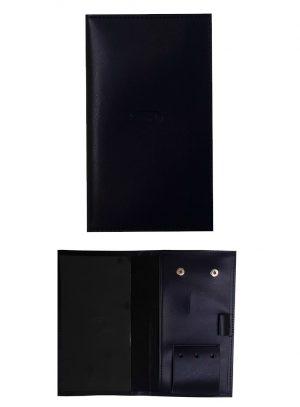 porte carte de score bleu marine