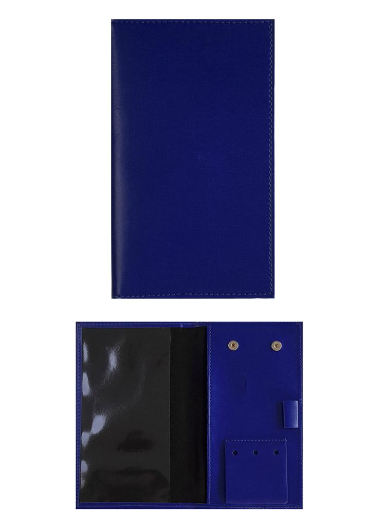 porte carte score bleu roy