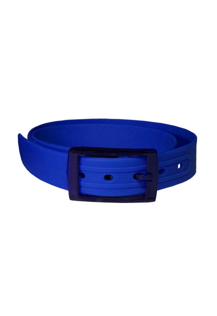 Ceinture silicone bleu roi boucle marine
